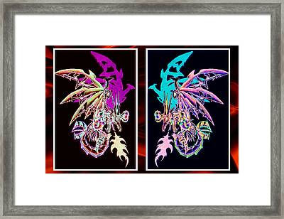 Mech Dragons Pastel Framed Print