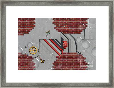 Mechanical - Abstract Framed Print by Liane Wright