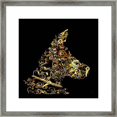 Mechanical - Dog Framed Print