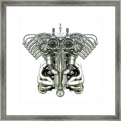 Mechanical Figure Framed Print by Diuno Ashlee