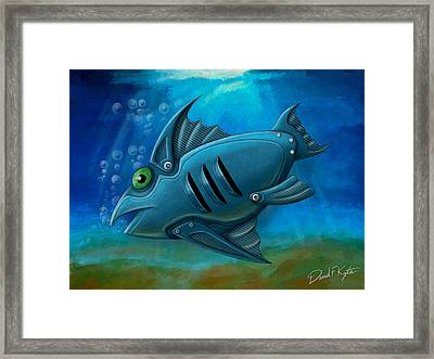 Mechanical Fish 4 Framed Print by David Kyte