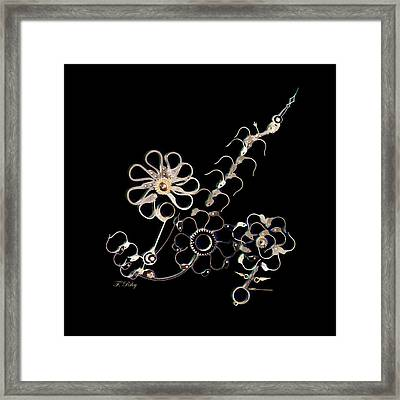 Mechanical Flowers Framed Print by Fran Riley