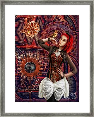 Mechanical Garden Framed Print by Mo T