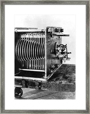 Mechanical Gear Number Sieve Framed Print