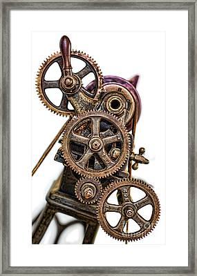 Mechanical Gears - Industrial Age  Framed Print
