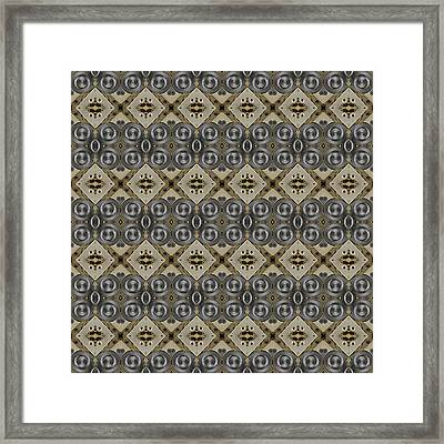 Mechanical Gears Pattern Background Framed Print by Nenad Cerovic