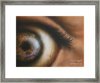 Mechanical Iris Framed Print by Troy Wilfong