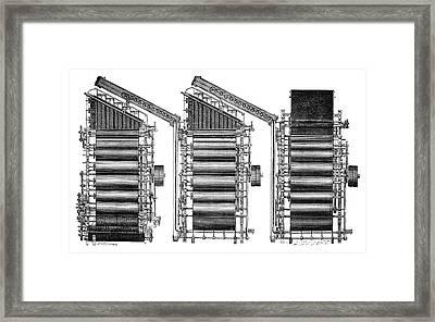 Mechanical Loom Framed Print