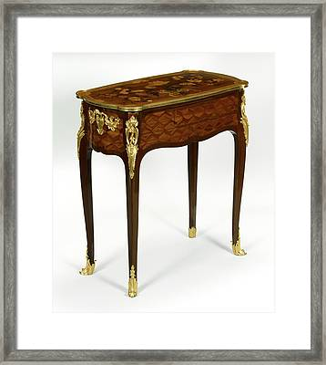 Mechanical Reading, Writing, And Toilette Table Framed Print by Litz Collection