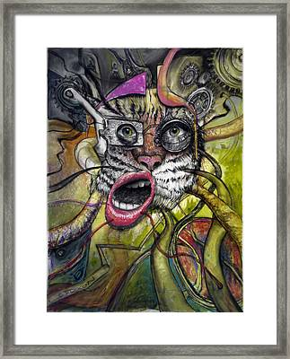 Mechanical Tiger Girl Framed Print by Frank Robert Dixon