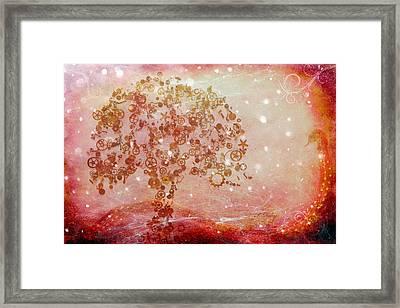 Mechanical - Tree Framed Print by Fran Riley