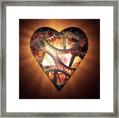 Mechanics Of The Heart Framed Print by Andrzej Wojcicki