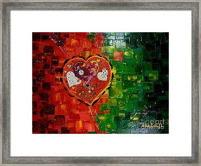 Mechanism Of Love Framed Print by Alexandru Rusu