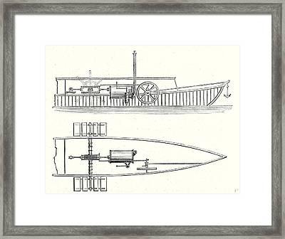 Mechanism Of Marquis De Jouffreys Paddle Steamers Engine Framed Print