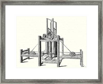 Mechanism Of Miller Taylor And Symingtons Steamboats Engine Framed Print by English School