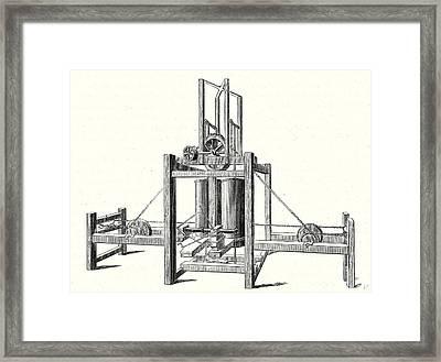 Mechanism Of Miller Taylor And Symingtons Steamboats Engine Framed Print