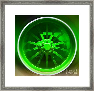 Framed Print featuring the digital art Mechanism-vi by Sandro Rossi