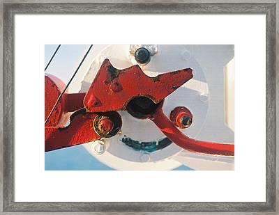 Mechanisms Lifeboat Davit Framed Print by Howard Dratch