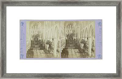 Mechelen Malines, Metropolitan Church Of St Rumbold Framed Print