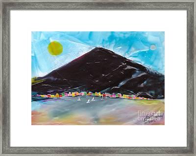 Med Cove Framed Print
