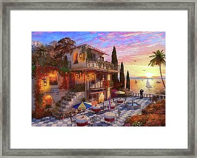 Med Villa Framed Print