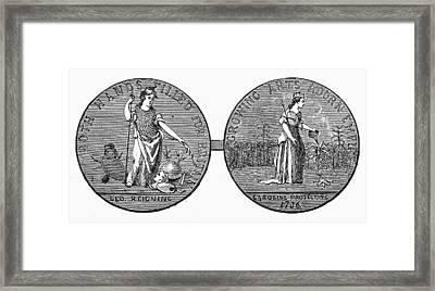 Medal Carolinas, 1736 Framed Print