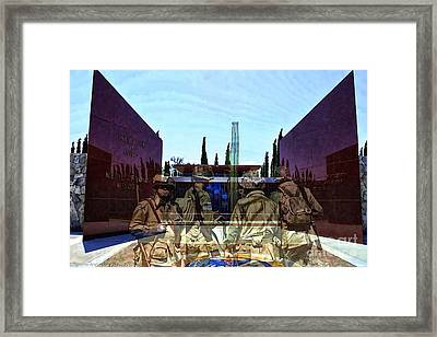 Medal Of Honor Memorial Revisited Framed Print