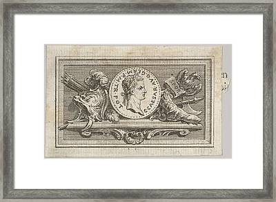 Medal With Portrait Of Caligula Framed Print
