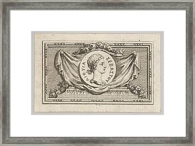 Medal With Portrait Of Livy In The 5th Framed Print