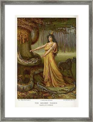 Medea, Daughter Of Aeetes King Framed Print by Mary Evans Picture Library
