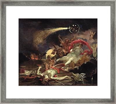 Medea Rejuvenating Eson Oil On Canvas Framed Print