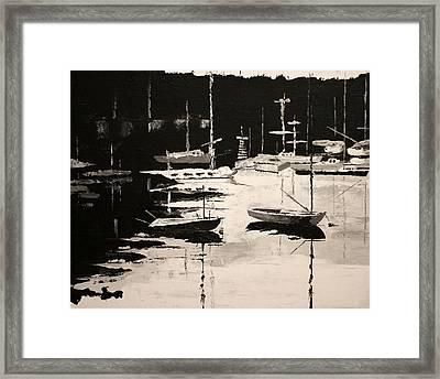 Medford Boat Club Framed Print by Robert Crooker
