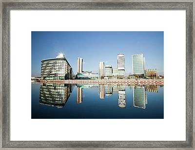 Media City Framed Print