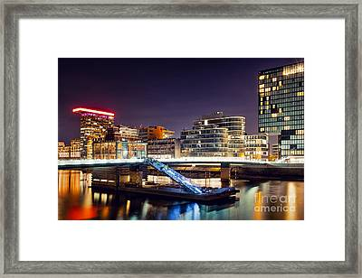 Media Harbor Dusseldorf Framed Print