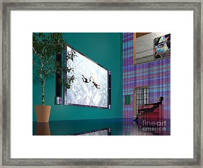 Media Room Framed Print by Walter Oliver Neal