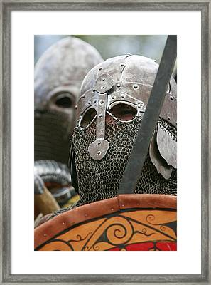 Mediaeval Soldier Re-enactment Framed Print
