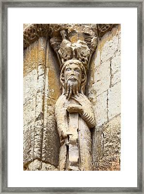 Mediaeval Toilet Roll Holder Framed Print