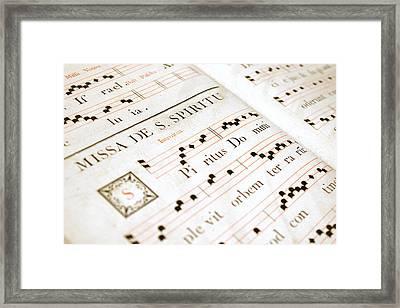 Mediavel Chorus Book  Framed Print