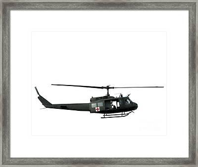 Medic Helicopter Framed Print