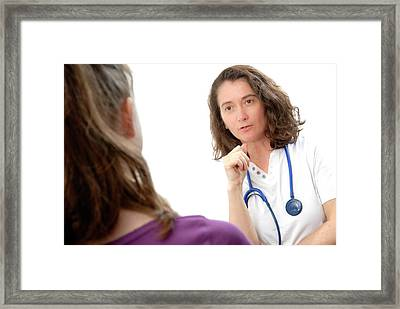Medical Consultation With Teenage Girl Framed Print by Aj Photo