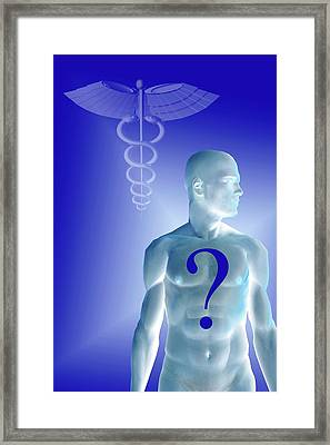 Medical Diagnosis And Research Framed Print