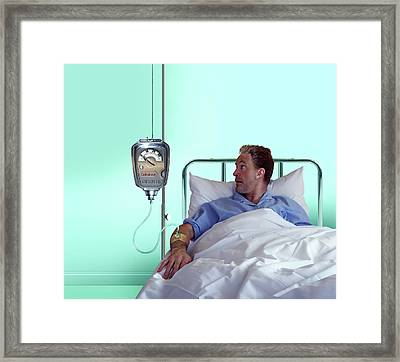 Medical Finances Framed Print by Smetek