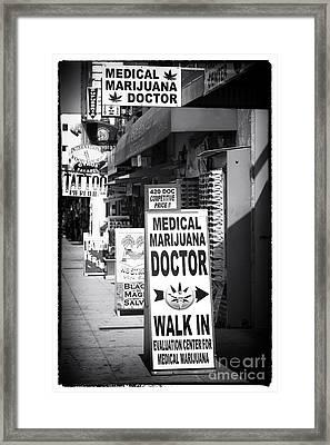 Medical Marijuana Doctor Framed Print by John Rizzuto