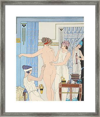 Medical Massage Framed Print by Joseph Kuhn-Regnier