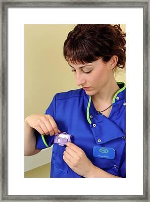 Medical Radiation Dosimetry Framed Print