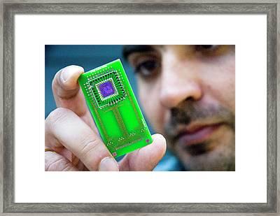 Medical Sensor Research Framed Print