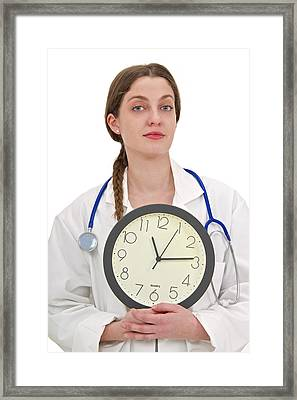 Medical Time Framed Print by Lea Paterson