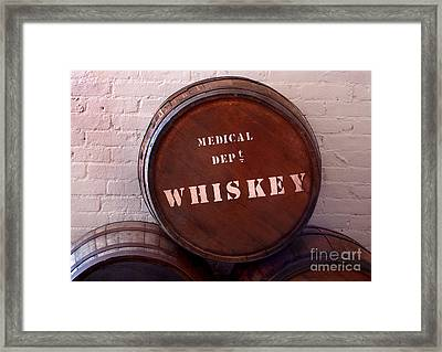 Medical Wiskey Barrel Framed Print by Phil Cardamone