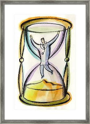 Medical Workload Framed Print by Leon Zernitsky