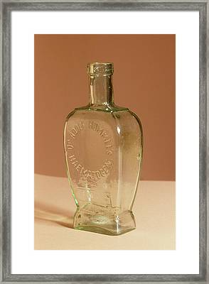 Medicine Bottle Framed Print by Science Photo Library
